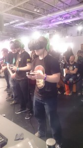 Crystal Rift played with a VR headset.