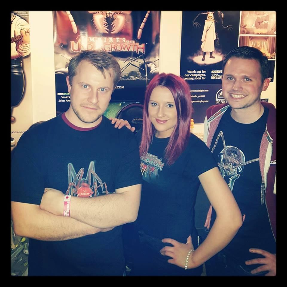 John, Hannah and Matt at EGX Rezzed